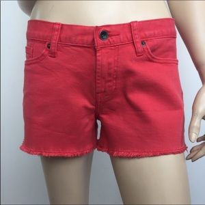 Lucky Brand 'Riley' Red Pigment Cut-Off Short 6/28